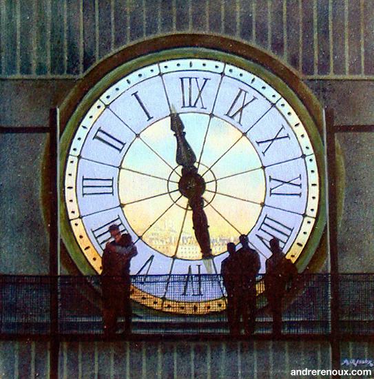 Horloge d'Orsay Et Silhouettes