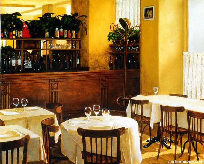 Intérieur Du Restaurant Chez Paul IV