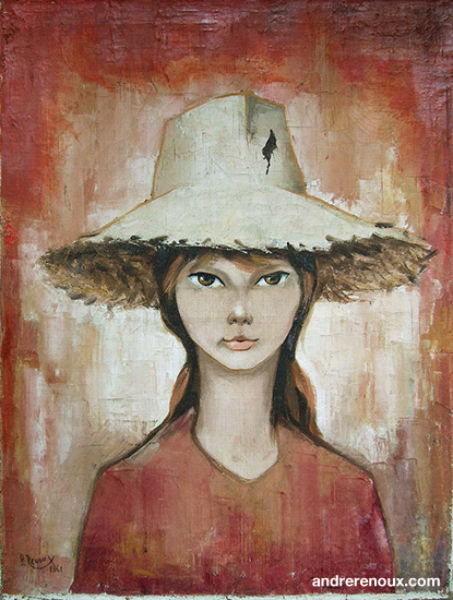 Jeune Fille Au Chapeau De Paille 1961