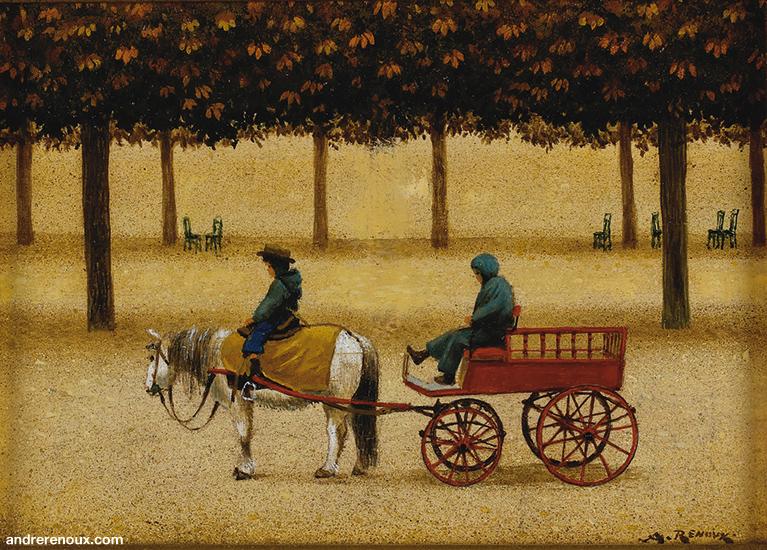 Le Poney Et La Charette