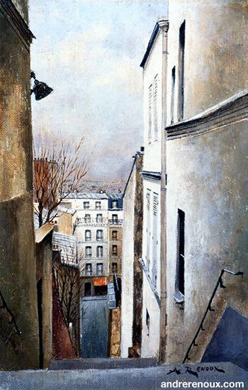 Les Escaliers De Montmartre I