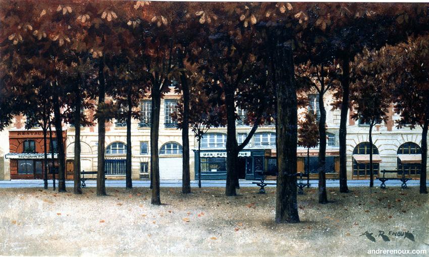 Place Dauphine En Automne