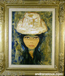 Jeune Femme Brune Au Chapeau